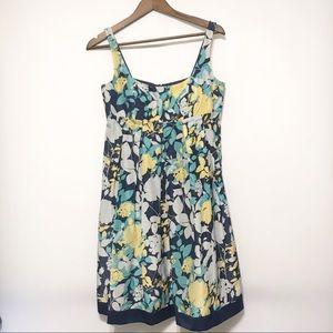 BCBG Paris 100% Silk Pleated Dress Floral Size 6